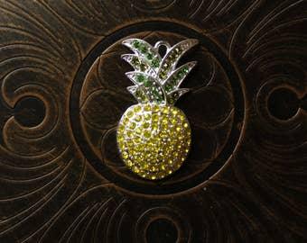 Pineapple Rhinestone Pendant for Chunky Bubblegum Necklaces