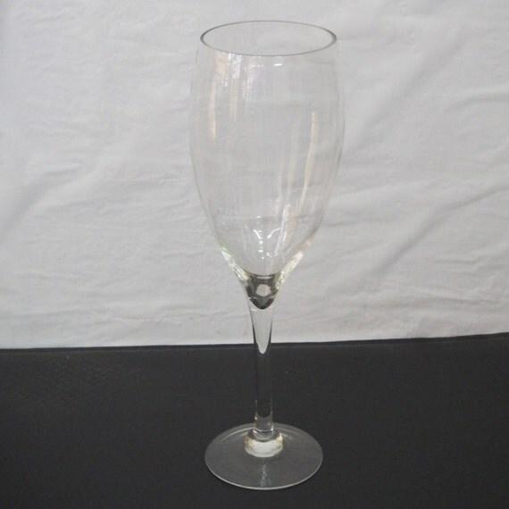 Tall Wine Glass Centerpiece Vases : Tall champagne wine glass vase wedding centerpiece by