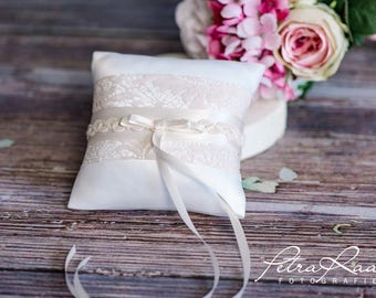 Ring pillow wedding pillow wedding rings ivory natural wedding decoration AK6