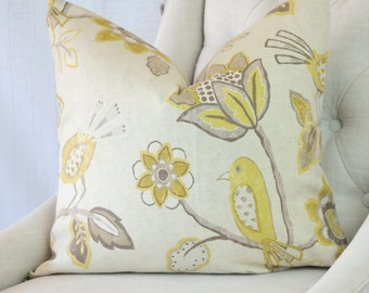 Designer Pillows, Yellow, Accent Throw Covers, 24x24, 22x22, 18x18, 16x16, 20x20, 26x26, Lumbar, Decorative Pillows, Pillow Covers, Furl