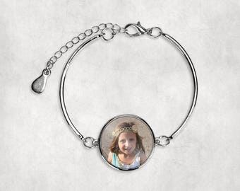 Custom Photo Bracelet  Charm Bracelet Photo Charm Bracelet Mother Grandmother Mothers Day Bracelet Picture Bracelet Photo Bracelet Bracelet