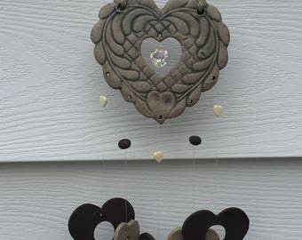 Ceramic Hearts Windchime