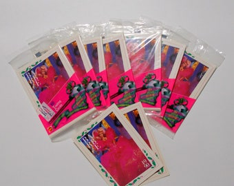 Barbie Trading Card Lot 7 Packs Sealed Plus 2 Bonus Loose Cards Trivia Facts History Crafts