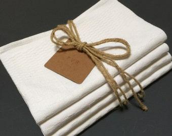 Set of 4 French Vintage Linen Napkins
