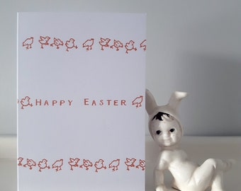 Easter Card: A6 'Happy Easter' Card, with Chicks.