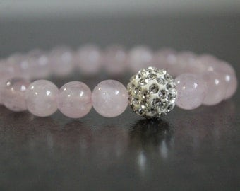 Rose Quartz , Gemstone bracelet ,Rose Quartz bracelet,Love gemstone bracelet,Jewelry,Natural stone,cuarzo rosa,cuarzo,pulsera,