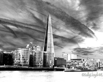 London Shard black and white photo print