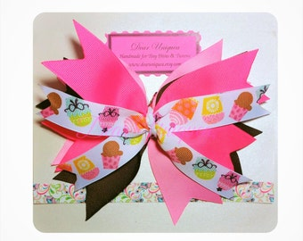 Cupcake Spiked Bow