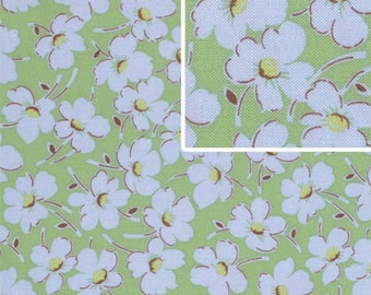 Half Yard - Wind Flowers in Cat Eye, Gypsy Caravan, Amy Butler Fabric, quilting cotton, Green, Blue