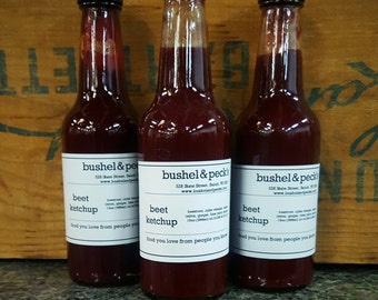 B&P's Beet Ketchup: A Beet Lover's Dream! Three Bottles