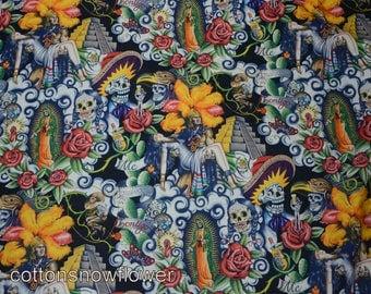 Contigo Black, Alexander Henry, 'Folklorico' collection fabric