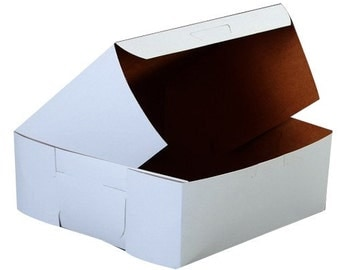 20  Bakery Pastries Cookies Donut Gift White Board Box 6 x 6 x 2.5