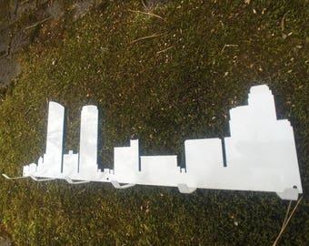 Grand Rapids, Michigan Metal Skyline Wall Hooks