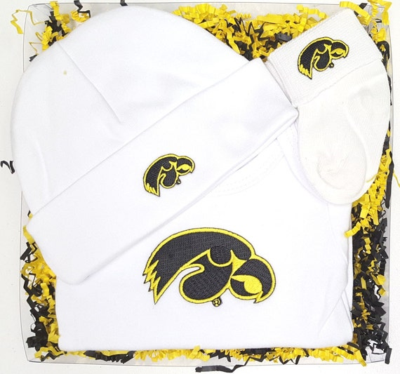 Iowa Hawkeye 3 Piece Baby Clothing Gift Set