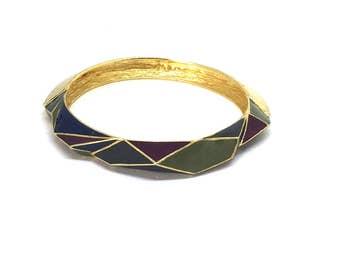 Ungaro PARIS 70's enamel new old stock bracelet