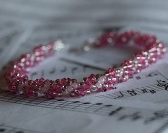 October Swarovski Spiral Birthstone Bracelet (Rose)