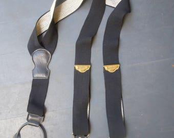 1970s Black Police Braces