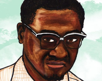 Patirice Lumumba a3 Illustrated Print