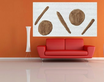 large canvas painting abstract Large brown nature art large abstract painting modern minimalist large painting wall art large abstract