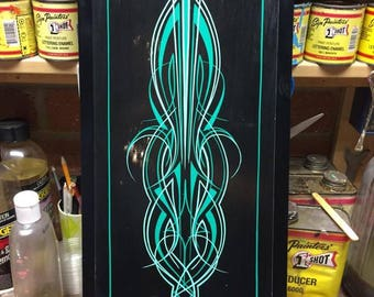 PINSTRIPED Panel, Distressed look