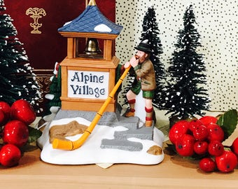 Vintage Department 56 Alpenhorn Player Heritage Village Collection Dept 56 1995
