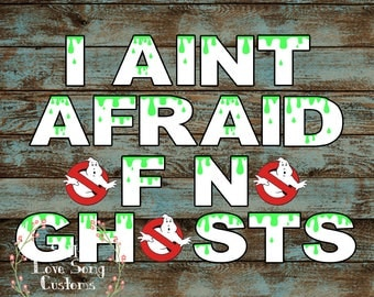 I Aint Afraid of No Ghosts Ghostbusters Themed Printable Banner! Perfect for Any Birthday! INSTANT DOWNLOAD