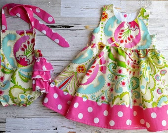 Big Sister Little Sister- Matching Outfits - Siblings Dress - Bubble Romper- Dress - Toddler Girl Dress - Baby girl dress - Photo prop