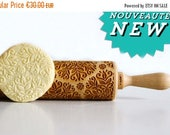 Rolling Pin engraved KALEIDOSCOPE SMALL Embossing rolling pin, laser engraved rolling pin. Birthday wedding, anniversary gift Made in europ