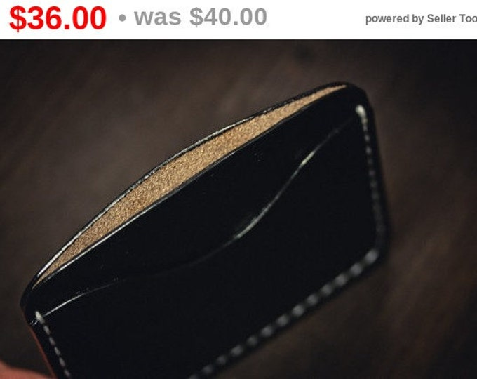 Hand Dyed Hermann Oak Leather Cardholder / Slim Wallet/ Card wallet/ Leather Card holder/Men's Leather Wallet /Leather wallet/Slim wallet