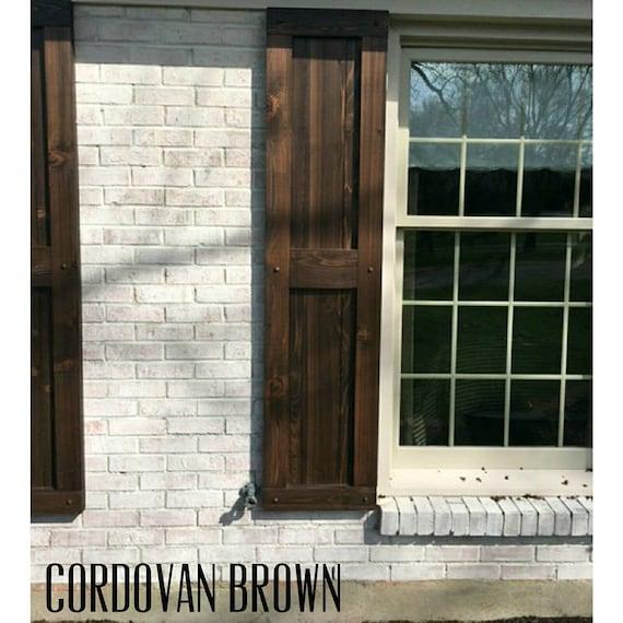 Wood Shutters, Rustic exterior cedar shutters- \