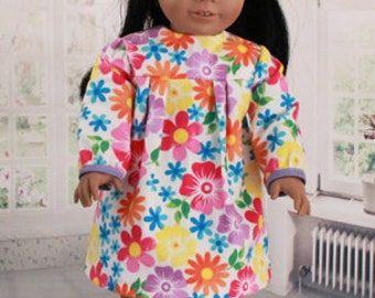 American Girl Doll Contemporary Floral Nightgown