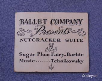 Vintage Barbie Ballerina Program, Fashion #989, Near Mint