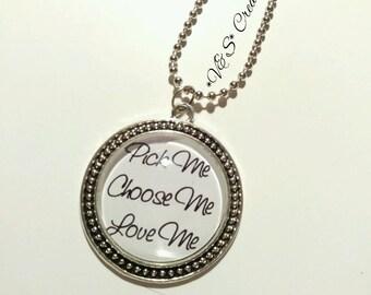 Collana cabochon necklace grey's anatomy Pick me choose me love me Meredith Derek