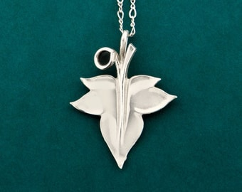 Ivy leaf necklace etsy ivy leaf necklace mozeypictures Image collections