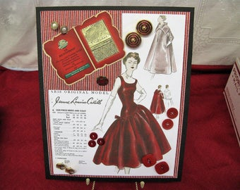 1950's Vintage Button Craftwork