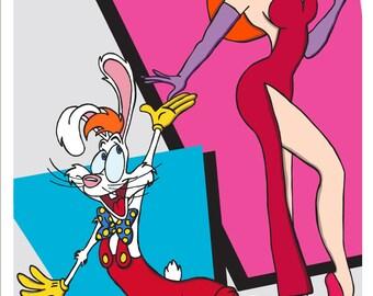 Roger Rabbit and Jessica Rabbit Who Framed Roger Rabbit Movie Fan Art