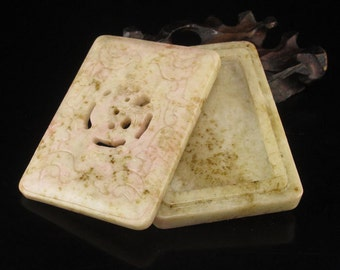 N3431 Vintage Chinese Jade Inkpad Box