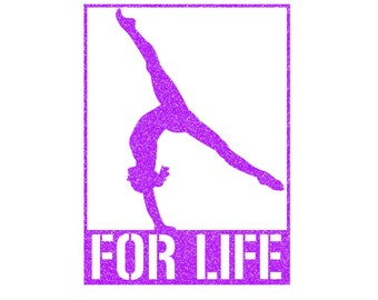 FOR LIFE Gymnast Iron On Decal