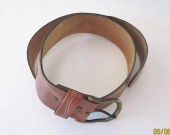 VINTAGE LEATHER BELT Brown Leather Belt Men's Belt
