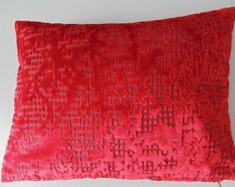 Designers Guild Fabric Boratti Scarlet Cushion Covers