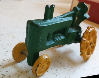John Deere Homemade toy tractor - rare!