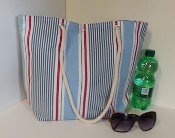 Nautical Stripes Beach Bag/Tote