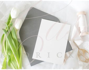 styled wedding or party invitation stock photo mockup