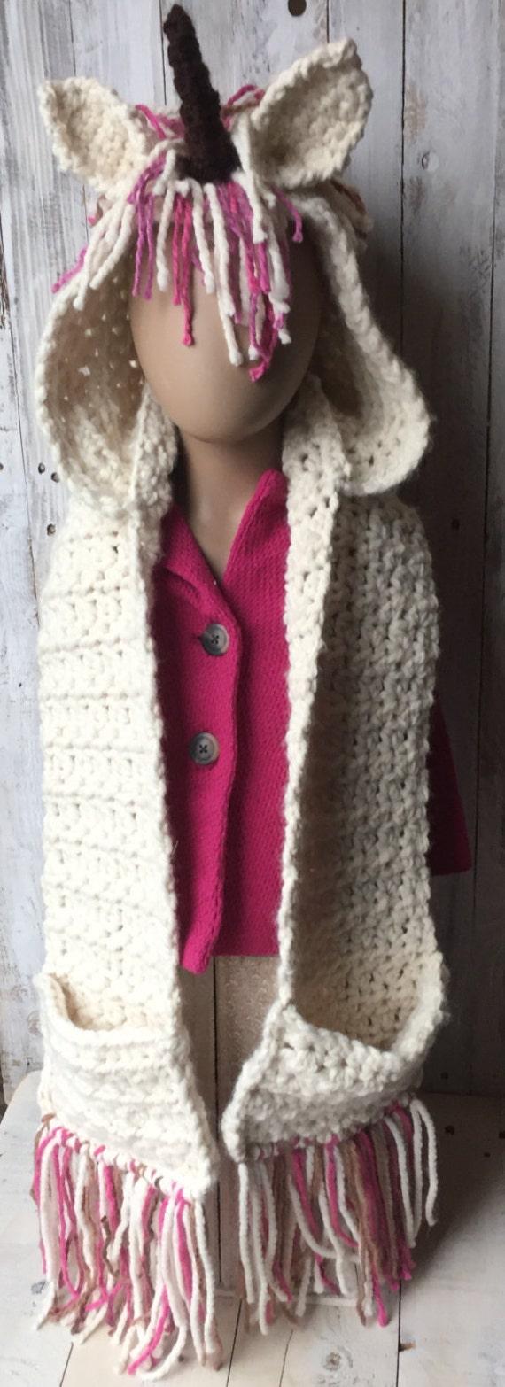 gifts for kids unicorn hooded scarf crochet unicorn hooded