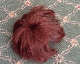 Wonderful Vintage Small Reddish Brown Doll Wig