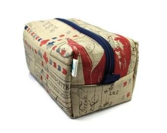 Boxy Bag -Toiletry Bag - Dopp Kit -Travel Bag -Makeup Bag - Accessory Bag - Wash Bag - Wet Bag - Eclectic Elements