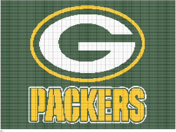 Crochet Pattern Green Bay Packer Afghan : Crochet Green Bay Packers Chart Packers Crochet by ...