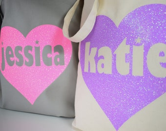 Personalized Tote, Personalized Totes, Totes, Custom Tote, Tote Bag, Wedding Party Gift, Birthday Gift, Personalised Tote Bag for Girls