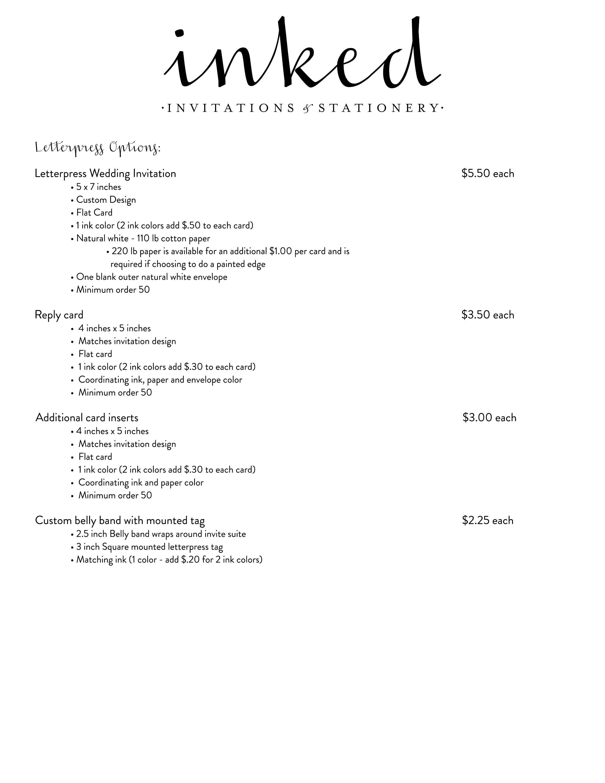 Letterpress Wedding Invitation, Classic, Monogram Invitation ...