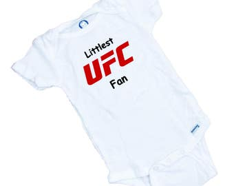 Littlest UFC fan  Funny baby onesie or Tee Shirt